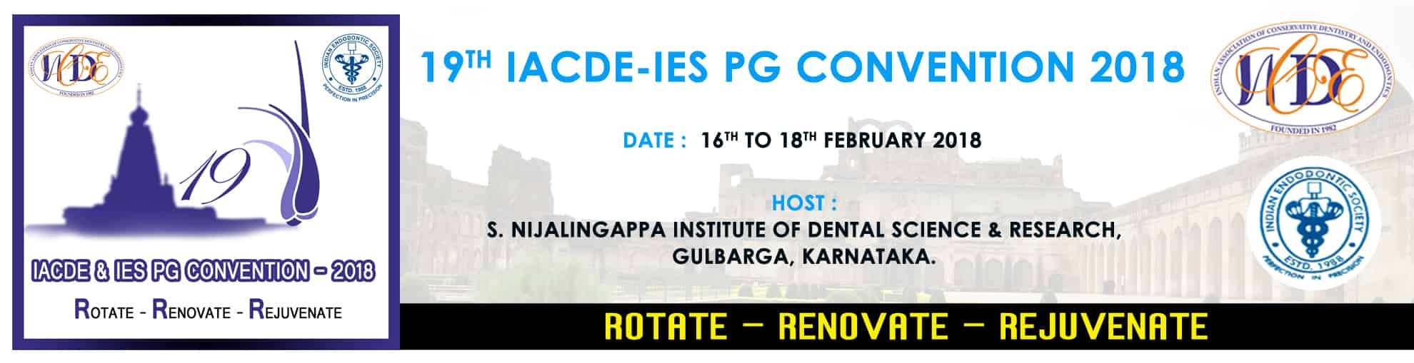 19th IACDE - IES PG Convention 2018